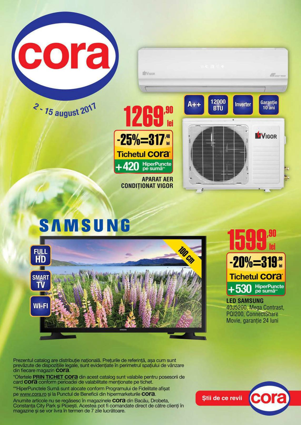 Catalog Cora oferte 2 august - 15 august 2017 Produse nealimentare