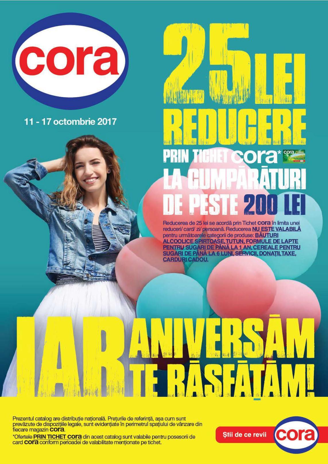 Catalog Cora 11 octombrie - 17 octombrie 2017. Produse alimentare