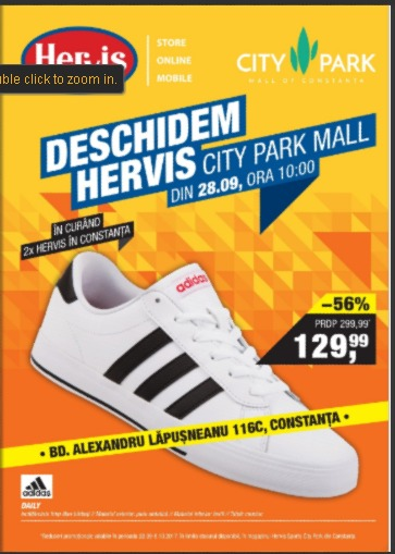 Catalog Hervis Sports 28 septembrie - 8 octombrie 2017