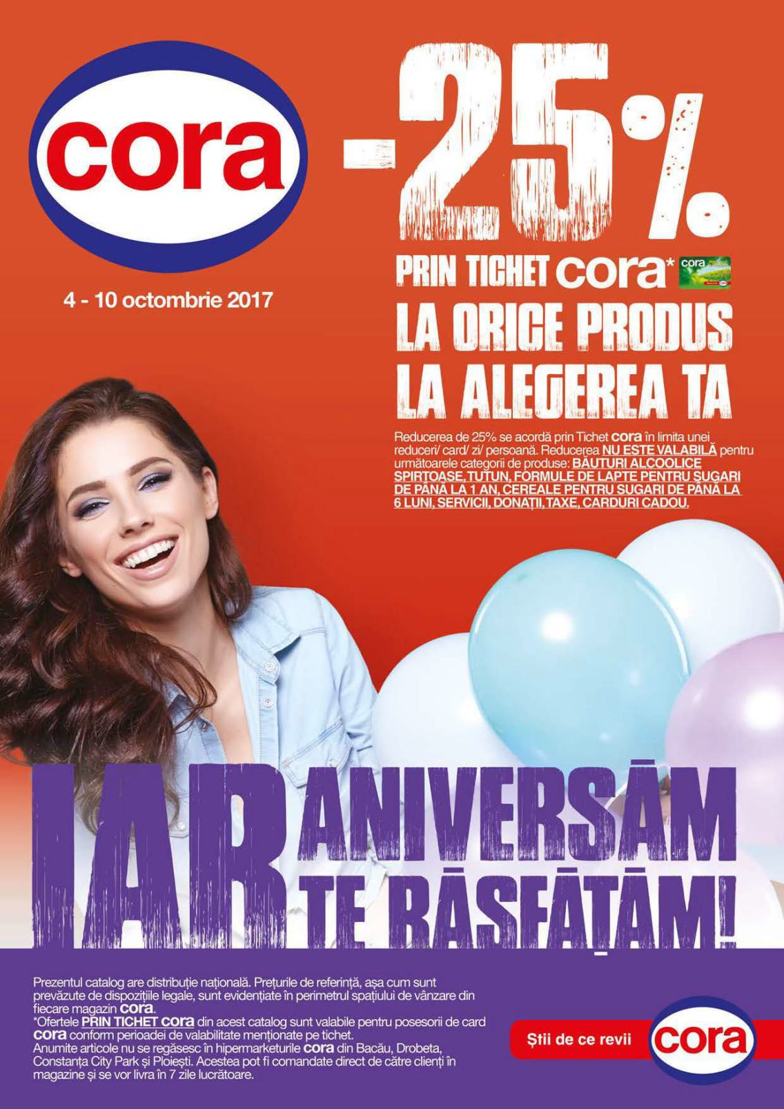 Catalog Cora 4 octombrie - 10 octombrie 2017. Produse alimentare
