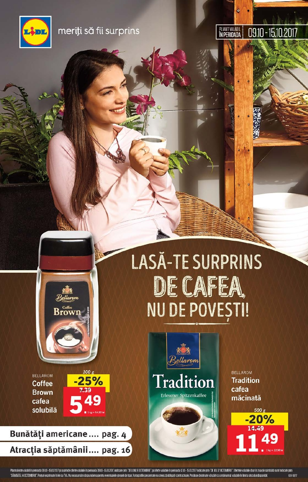 Catalog Lidl 9 octombrie - 15 octombrie 2017