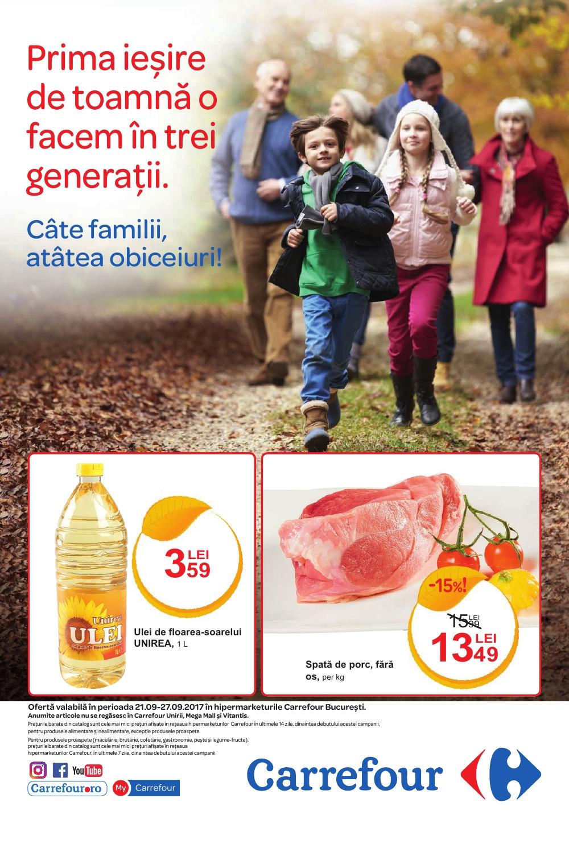 Catalog Carrefour 21 septembrie - 27 septembrie 2017. Produse alimentare