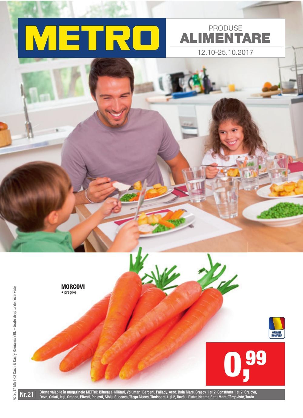 Catalog Metro 12 octombrie - 25 octombrie 2017. Oferte alimentare