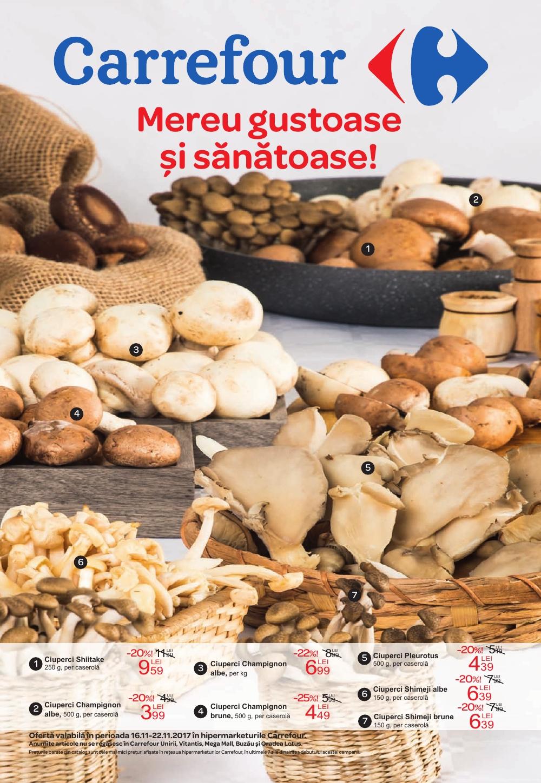 Catalog Carrefour 16 noiembrie - 22 noiembrie 2017. Produse alimentare
