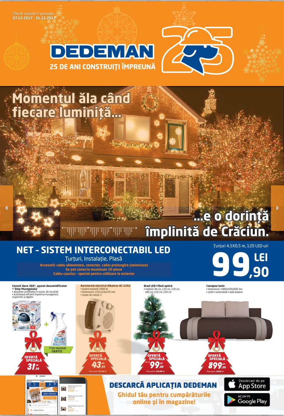Catalog Dedeman 7 decembrie - 31 decembrie 2017