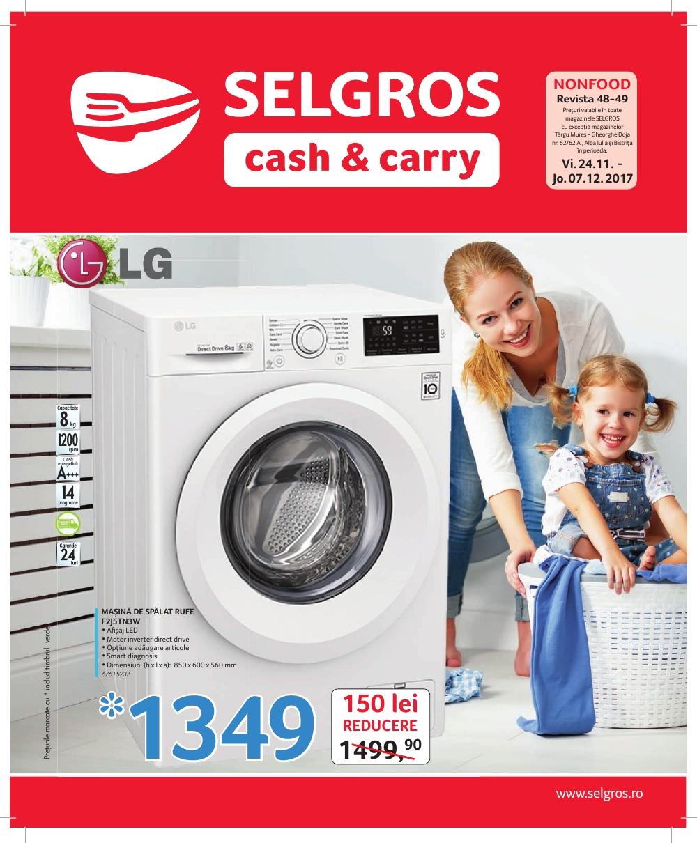 Catalog Selgros 24 noiembrie - 7 decembrie 2017. Oferte nealimentare