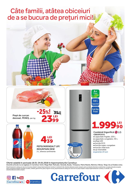 Catalog Carrefour 18 ianuarie - 24 ianuarie 2018. Produse nealimentare