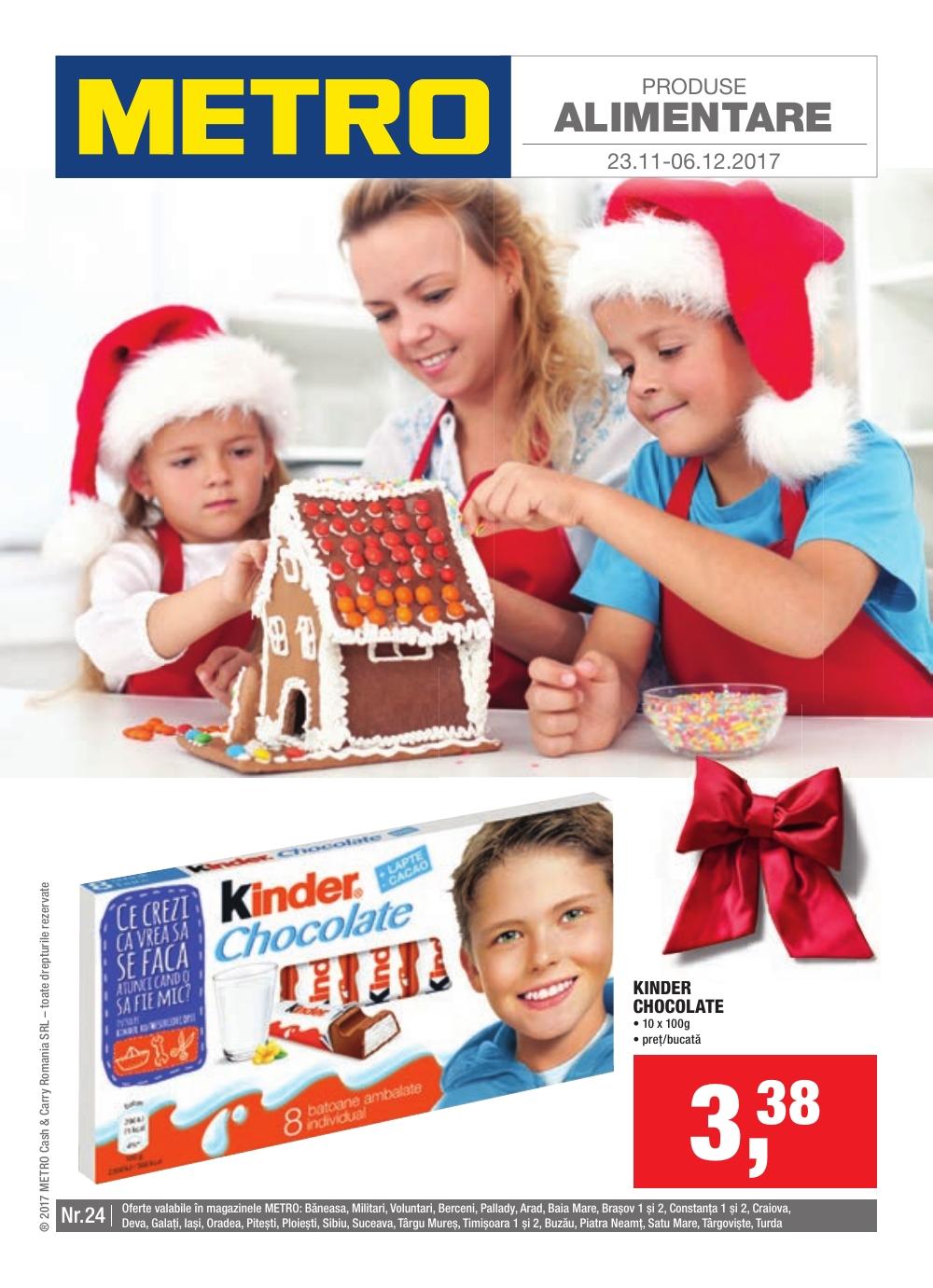 Catalog Metro 23 noiembrie - 6 decembrie 2017. Oferte alimentare