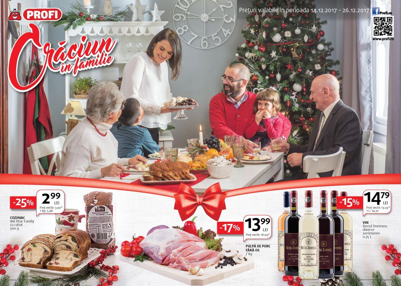 Catalog Profi oferte 14 decembrie - 26 decembrie, 2017. Oferte alimentare