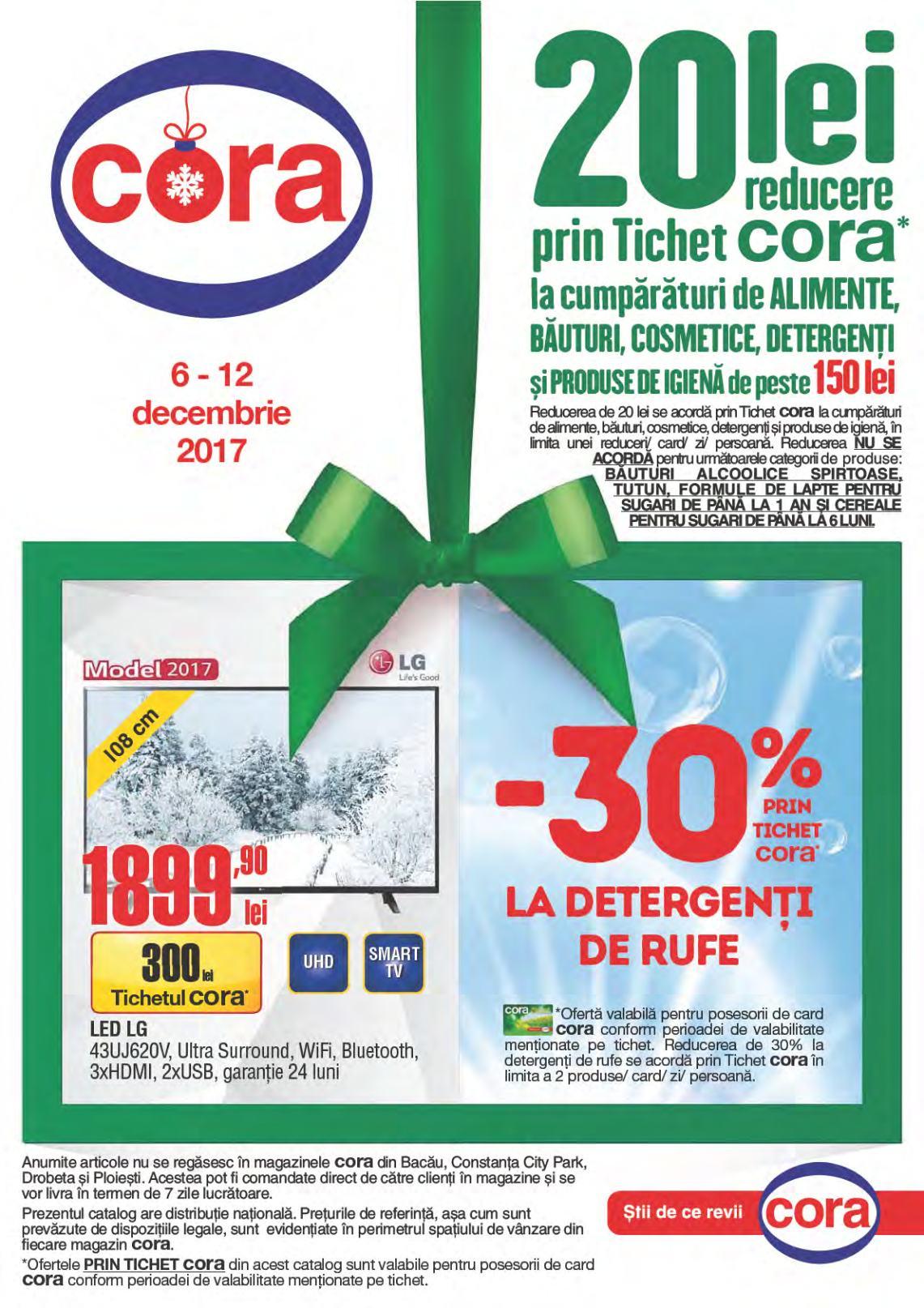 Catalog Cora 6 decembrie - 12 decembrie 2017. Produse alimentare