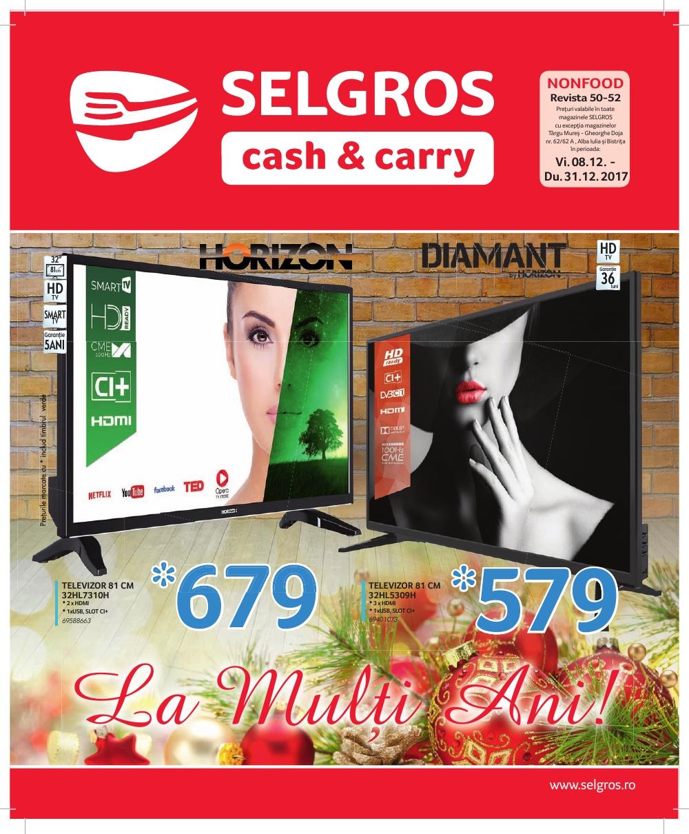 Catalog Selgros 8 decembrie - 31 decembrie 2017. Oferte nealimentare