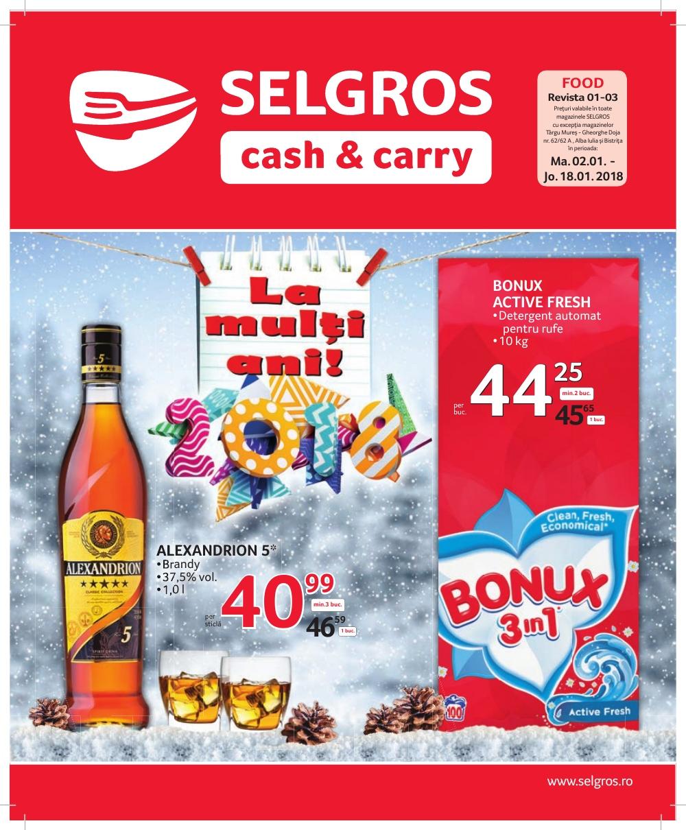 Catalog Selgros 2 ianuarie - 28 ianuarie 2018 Oferte alimentare