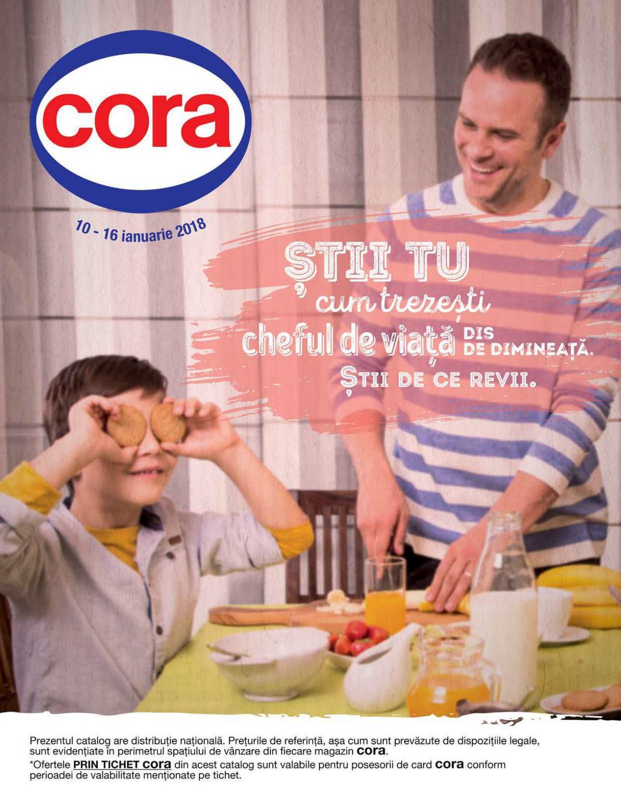 Catalog Cora 10 ianuarie - 16 ianuarie 2018. Produse alimentare