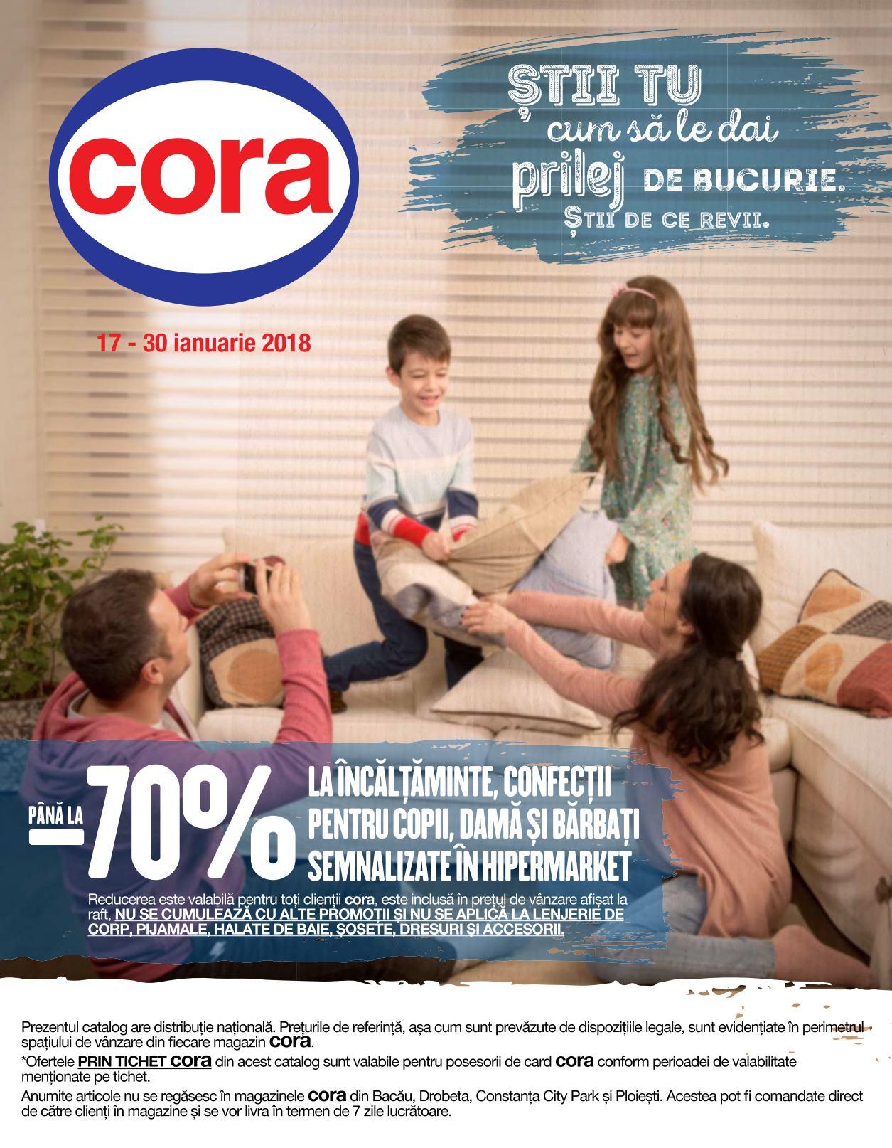 Catalog Cora oferte 17 ianuarie - 30 ianuarie 2018. Produse nealimentare