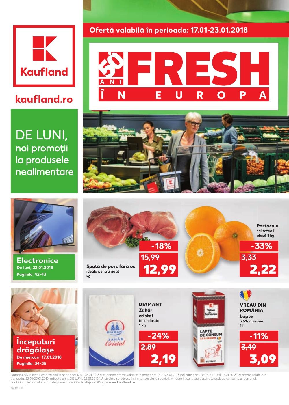 Catalog Kaufland 17 ianuarie - 23 ianuarie 2018