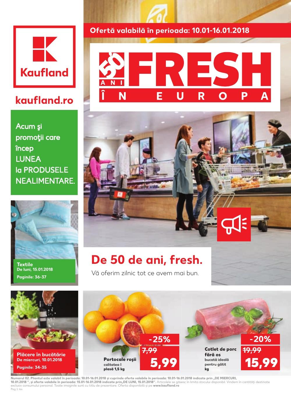 Catalog Kaufland 10 Ianuarie - 16 Ianuarie, 2018